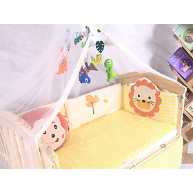 Cũi trẻ em, nôi cho bé bằng gỗ thông NewZealand, có thể chuyển thành Giường, bàn học
