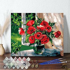 Tranh sơn dầu số hoá đã căng khung 40 x 50 cm đã căng khung nhiều mẫu chọn lựa