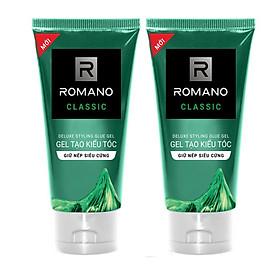 Combo 2 Tuýp Gel Tạo kiểu tóc giữ nếp siêu cứng Romano Classic 150g*2