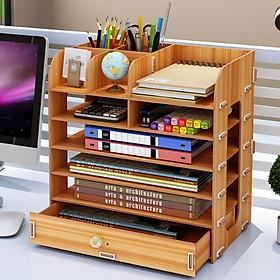 Kệ gỗ đựng hồ sơ văn phòng