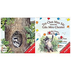 Combo 2 cuốn sách picture book song ngữ: Nụ Hôn Chúc Ngủ Ngon Dành Cho Gấu Mèo Chester  + Trò Chơi Màu Sắc Dành Cho Gấu Mèo Chester Và Kẻ Bắt Nạt To Xác Xấu Xa  ( Dành cho trẻ từ 0-3 tuổi) ( Tặng kèm Postcard Happy Life)
