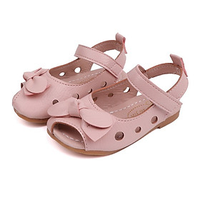 New Summer Kids Girls Shoes Fashion Leathers Children Sandals Sweet Toddler Baby Anti-slip Hollow Out Bow Shoes