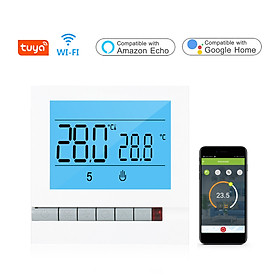 Tuya WiFi Smart Water/Gas Heating Thermostat Programmable Temperature Controller Compatible with Alexa Google Home Large