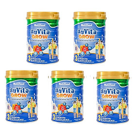 Bộ 5 hộp Sữa Bột NutiFood Nuvita Grow 3+ (900g)