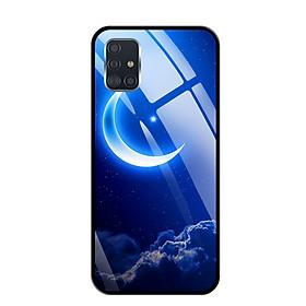 Ốp lưng kính cường lực cho Samsung Galaxy A51 - 03094 0220 MOON01 - Hàng Chính Hãng