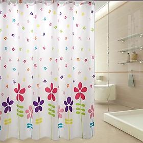Rèm Phòng Tắm / Rèm Cửa Sổ Trằng Họa Tiết Hoa Năm Cánh 180cm X 180cm Loại 1