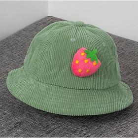 Nón vải nhung kiểu trái cây cho bé trai và bé gái 3-5 tuổi_M29