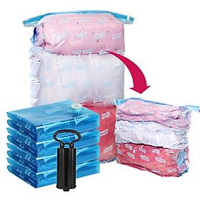 Taili vacuum storage bag three-dimensional clothing bag vacuum [2 extra large bags+ 4 medium bags] free hand pump