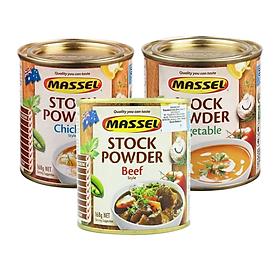 Combo 3 hộp Hạt nêm Massel Classic Powder Gà, Bò, Rau 100% (168g x 3) - Nhập khẩu Australia