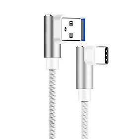 L Shape Type-C Cable L Shape Type-C Charging Line Cable Data Sync 3M Charger Accessories Anti-Breakage