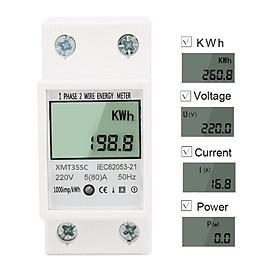 Công tơ điện tử 1 pha đa năng 80A đo công suất tiêu thụ, điện áp, cường độ dòng điện.Thiết bị đo công suất