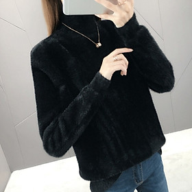 Women's Turtleneck Sweater Pullover New Turtleneck Long-sleeved Fashion Trend Solid Color Women's Sweater