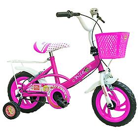 Xe đạp trẻ em Nhựa Chợ Lớn 12 inch K104 - M1799-X2B, Sườn xe bằng sắt chịu lực, Nhựa chính phẩm an toàn, Sản xuất tại Việt Nam - Hàng chính hãng