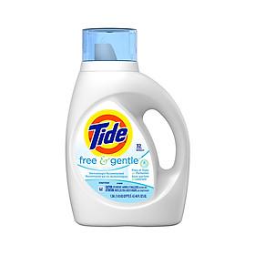 Nước giặt Tide Free&Gental Không Màu, Không Mùi Cho Da Nhạy Cảm dạng bình 1.4L
