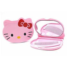 Gương lược bỏ túi mini Hello Kitty (giao màu ngẫu nhiên)