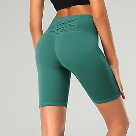Women Yoga Shorts High Waist Push-up Quick Dry Leggings Compression Shorts for Fitness Gym Workout