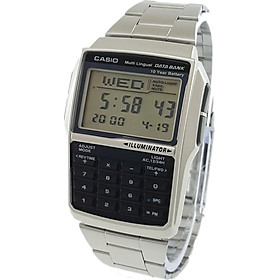 Men's Casio DBC-32D-1A Silver Steel Databank Calculator Watch