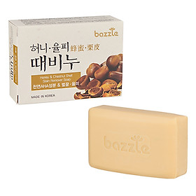 Xà bông tắm tẩy da chết tinh chất hạt rẻ & mật ong  Bazzle Hàn Quốc 100g - Phù hợp mọi loại da.