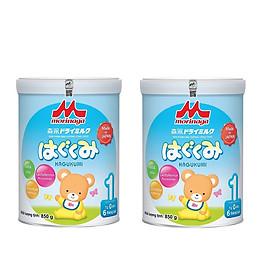 Combo 2 Hộp Sữa Morinaga Số 1 - Hagukumi (850g) - Tặng khẩu trang xô