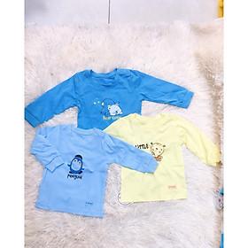 Set 3 áo dài tay bé trai bé gái Dokma (3- 18 tháng)