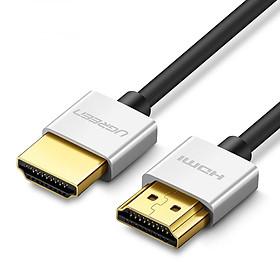 Dây HDMI 2.0 thuần đồng 18Gbps đầu hợp kim Dài 1M UGREEN HD117 30476 (Đen)) - Hàng Chính Hãng