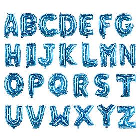 Bong bóng chữ cái màu xanh 35 cm (chọn chữ A - Z)