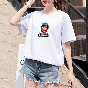 Fashion Couple Shirt Printed T-shirt Women Summer Casual Loose cotton Tee PC187