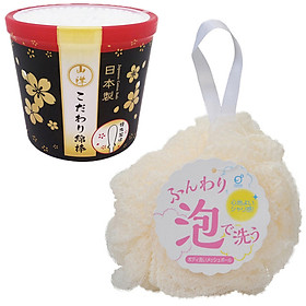 Combo hộp 180 bông ngoáy tai cao cấp cho người lớn và bông tắm tạo bọt nội địa Nhật Bản