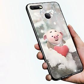 Ốp điện thoại dành cho máy Oppo F9 - Trái tim của lợn con MS FUNN0026