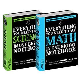 Sách - Everything you need to ace Maths and Sciece - sổ tay toán học và sổ tay khoa học - Á Châu Books ( Tiếng Anh, Bộ 2 cuốn )