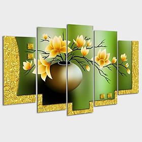 Tranh Treo Tường Gỗ Hàn Quốc phủ Melamin - Tranh treo tường phòng khách - Tranh treo tường bình hoa
