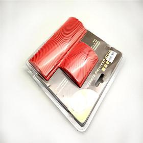 Bộ 2 Công Cụ Lăn Làm Giả Vân Gỗ (3 inch - 6 inch) - Đỏ