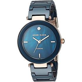 Anne Klein Women's Genuine Diamond-Accented Ceramic Bracelet Watch