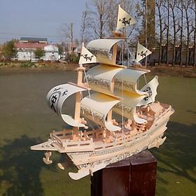 Đồ chơi lắp ráp gỗ 3D Mô hình Thuyền Big Song Merchant Shipjavascript