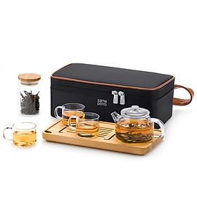 Bộ bình trà thủy tinh Samadoyo L008 180ml