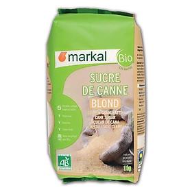 Đường mía thô hữu cơ hạt nhỏ Markal 1kg
