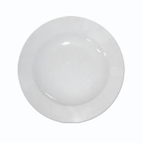 Bát đĩa - Đĩa sâu 7 tròn trắng sứ việt - Bát đĩa mỏng - Sử dụng gia đình, cá nhân