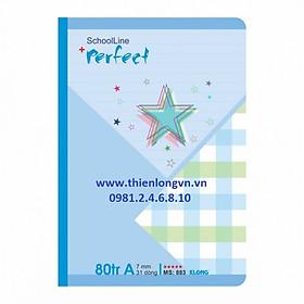 Vở kẻ ngang Perfect - 80 trang; Klong 883 bìa xanh biển
