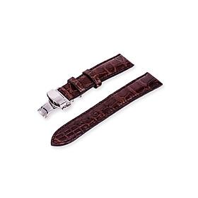 Dây đồng hồ da cá sấu thật ( gắn sẵn khóa bướm chống gẫy dây)