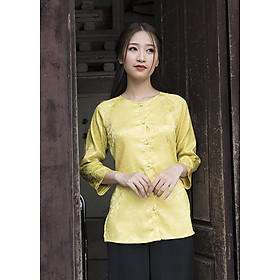 Áo Bà Ba Màu Vàng Pastel