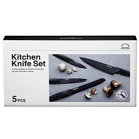 Bộ Dao Nhà Bếp 5 Món Cookplus Lock&Lock CKK101S5BLK