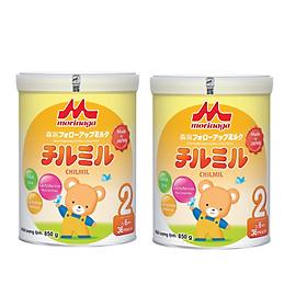 Combo 2 hộp Sữa Morinaga Số 2 - Chilmil (850g) Tặng khẩu trang xô cho bé