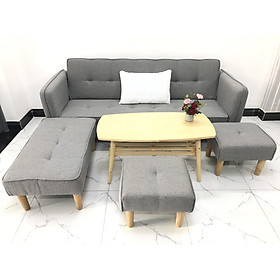 Cả bộ sofa bed L sofa giường tay vin phòng khách salon sivali08 sopha
