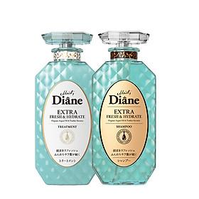 Bộ dầu gội & xả  kiểm soát dầu Moist Diane Extra Fresh & Hydrate (450ml*2)