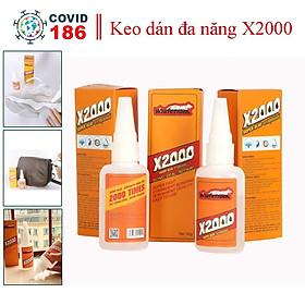 Keo dán x2000 siêu dính, keo dán đa năng dán tất cả vật liệu bằng gỗ, thủy tinh, dán nhựa an toàn với da tay (Dạng nước)