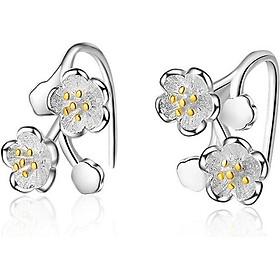 Bông tai hoa mai vàng xinh xắn mạ bạc BHBT286
