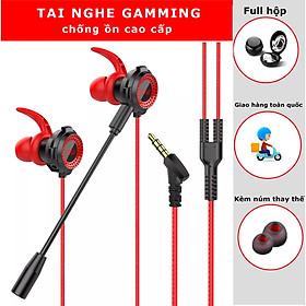 Tai Nghe Chơi Game Tai Nghe Nhét Tai Gamming Cho Điện Thoại Có Micro Đàm Thoại Rõ Nét - Hàng chính hãng