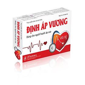 Thực phẩm bảo vệ sức khỏe Định Áp Vương dùng cho những người tăng huyết áp