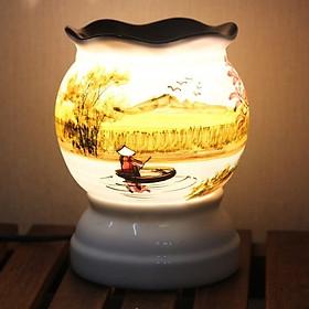 Đèn xông tinh dầu Gốm Sứ Bát Tràng Cỡ Lớn (giao mẫu ngẫu nhiên)
