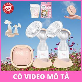 Máy hút sữa điện đôi Fatzbaby Resonance 3 + tặng hộp 30 túi trữ sữa Sunmum mini 100ml